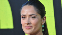 Salma Hayek in green Gucci at the LA 'Savages' premiere: why does she look awful?