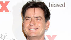Charlie Sheen either trashed another NY City hotel room or invited ladies for tea