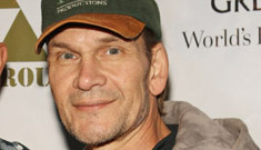 Patrick Swayze attends wrap party for The Beast