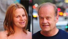 Kelsey Grammer steps out with pregnant 4th wife, how young does she look?