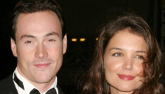 """Did Katie Holmes have a """"sexy, supersecret rendezvous"""" with her ex, Chris Klein?"""