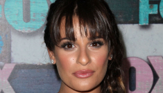 Lea Michele in pink, prom-queen Pucci at the Fox party: busted & awful?