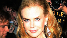 Nicole Kidman reemerges in London in navy Azzedine Alaia: lovely or strained?