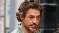 Robert Downey Jr injured on film set