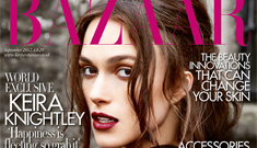 Keira Knightley does neo-goth on Bazaar UK cover: lovely or overdone?