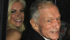 Crystal Harris and Hugh Hefner flaunt their reconciled January December romance