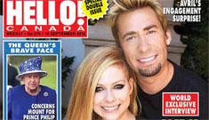 Avril Lavigne shows off pointy engagement ring from the guy from Nickelback