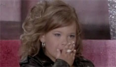 Toddlers & Tiaras shows 4 yo smoking a cigarette on stage: not as bad as other stunts?