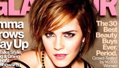 Emma Watson covers   Glamour UK, talks body image & body acceptance
