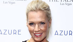 Jennie Garth steps out looking hot in a bright yellow bikini
