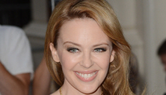Kylie Minogue in black at the GQ UK Men of the Year event: much improved?