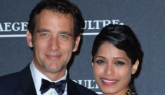 Freida Pinto in cutout McQueen in Venice (with Clive!): awesome or tacky?