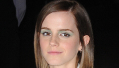 Emma Watson in a short, white Brood dress in NYC: super-cute & improved?