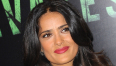 Salma Hayek's black & white dress in Paris for 'Savages': cute or unflattering?