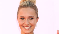 Hayden Panettiere in gold and blue Marchesa at the Emmys: pretty or bizarre?