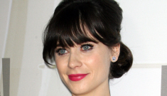 Zooey Deschanel in fairy princess Reem Acra at the Emmys: exhausting?