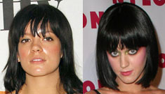 Lily Allen tells American rival Katie Perry to 'shut up'