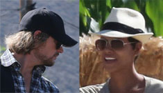 Halle Berry & Gabriel with Nahla at the pumpkin patch: truce or chilly?