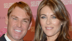 "Liz Hurley: Shane Warne ""never had any surgery & he doesn't wear makeup"""