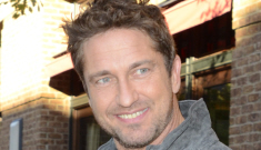 Gerard Butler promotes 'Chasing Mavericks' in NYC: would you still hit it?