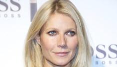 Gwyneth Paltrow in black leather Hugo Boss in Madrid: pretty or peasanty?