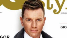 Ewan McGregor in a flowery, romantic GQ Style pictorial: would you hit it?