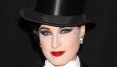 Dita Von Teese goes   drag-king in a formal tuxedo for Halloween: amazing?