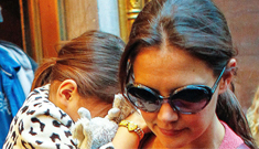 Katie Holmes & Suri Cruise remained in NYC for Sandy, still can't go home