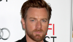 Ewan McGregor, bearded & well-dressed at the AFI Fest: would you hit it?