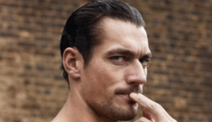 David Gandy goes shirtless for sexy long-johns themed pictorial: so, so hot?