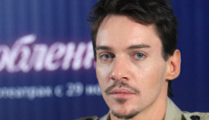 Jonathan Rhys Meyers makes a rare appearance in Moscow: would you hit it?