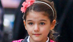 Did Suri Cruise actually spend the holiday with Tom Cruise in London?