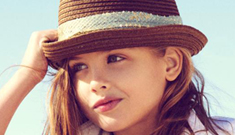 Anna Nicole Smith's daughter, Dannielynn, 6, models for Guess: way too young?