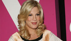 Is Tori Spelling drinking while pregnant?