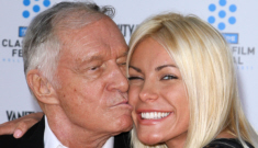 Hugh Hefner, 86, is re-engaged to his 'runaway bride' Crystal Harris, 26