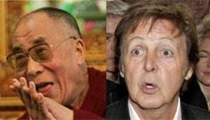 Paul McCartney tells Dalai Lama he's wrong to eat meat