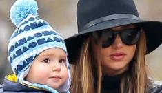 """Miranda Kerr takes a walk in NYC with her son Flynn Kerr-Bloom"" links"