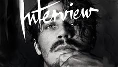 Garrett Hedlund covers Interview mag: too scruffy or hot & Fassbender-esque?