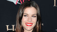 Liv Tyler in a short skirt with red bow heels at The Hobbit NY premiere: still stunning?