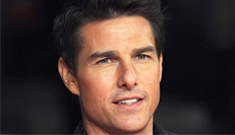 Tom Cruise at the 'Jack Reacher' UK premiere: you would never hit it, right?