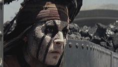 Johnny Depp in the second 'Lone Ranger' trailer:   improved or still sketchy?