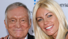 Crystal Harris shows off her new engagement ring from Hugh Hefner: tacky?