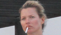 """Kate Moss wore a bandeau bikini during her St. Barts vacay"" links"