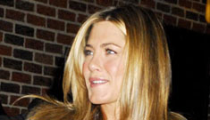 Jennifer Aniston's appearance on David Letterman was awkward
