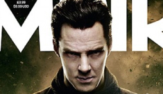 Benedict Cumberbatch in leather & space-age handcuffs = perfection.