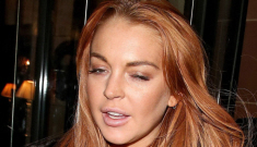 Lindsay Lohan is living it up   in London for New Year's:   how is she paying?