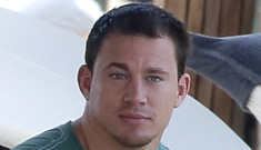 Channing Tatum chills out in St. Barts with his pregnant wife: super-cute?