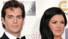 Henry Cavill & Gina Carano made their couple-y debut last night: so, so hot?
