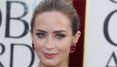 Emily Blunt in cutout Michael Kors at the Golden Globes: edgy or terrible?