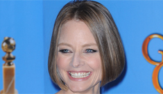 Jodie Foster in Armani for the Cecil B. DeMille award: brilliant & unstoppable or dull?